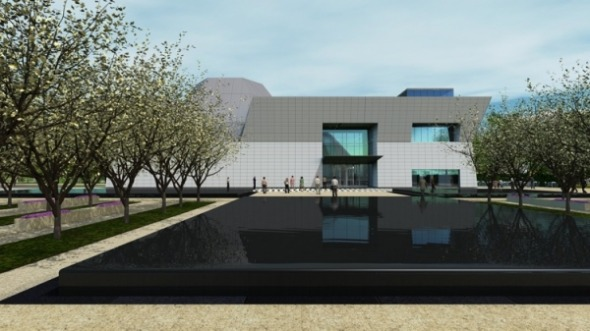 Rendering of the Aga Khan Museum by Fumihiko Maki