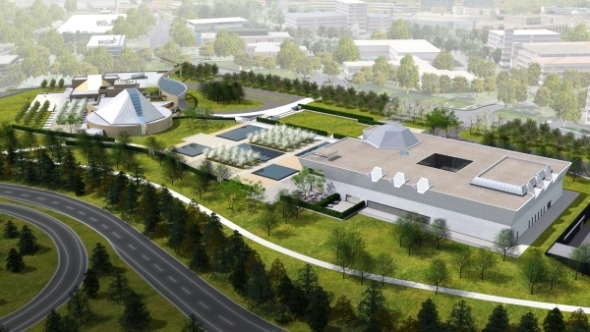 Rendering of the Aga Khan Museum in Toronto at Eglinton and Wynford