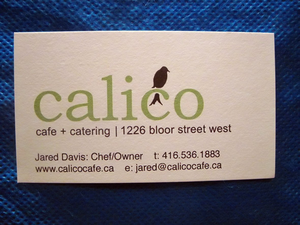 Toronto business card