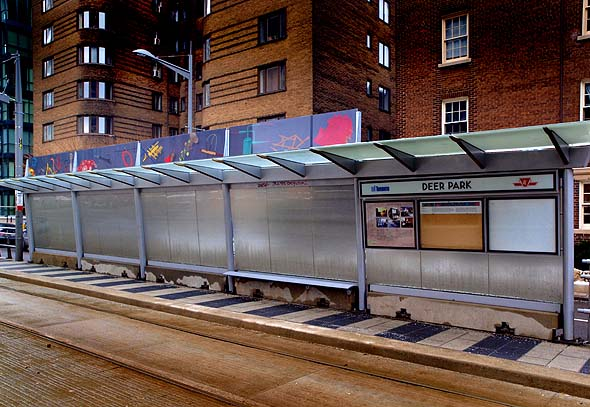 Streetcar shelter at Deer Park and St. Clair