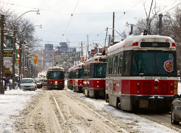 Streetcar snow