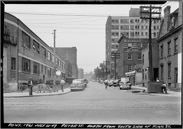 King and Peter looking north 1949