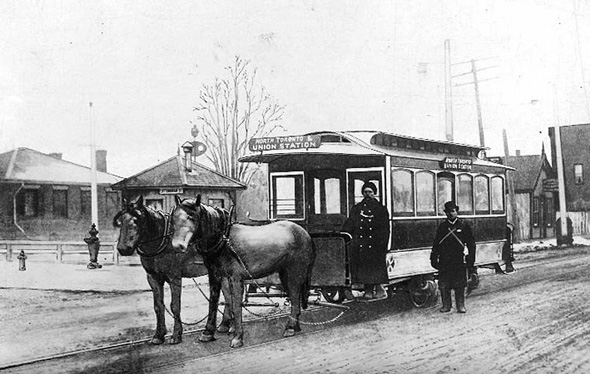 Trolley Toronto 1880s