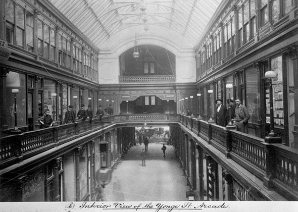 Yonge Street Arcade 1880s