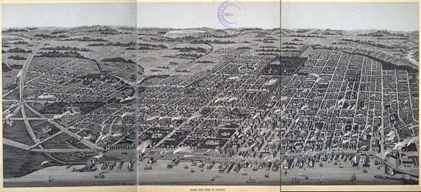 toronto map 1870