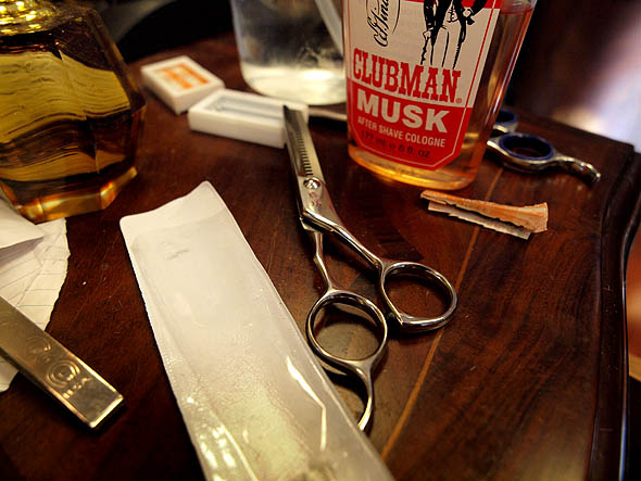 the tools of the trade at Terminal 2 barber shop