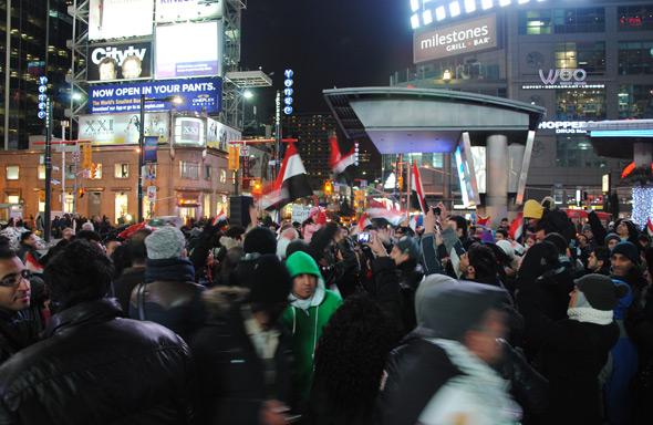 Toronto Egypt Mubarak celebration