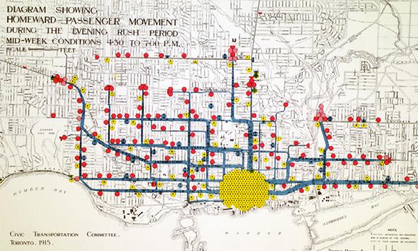 Toronto Rush Hour Map