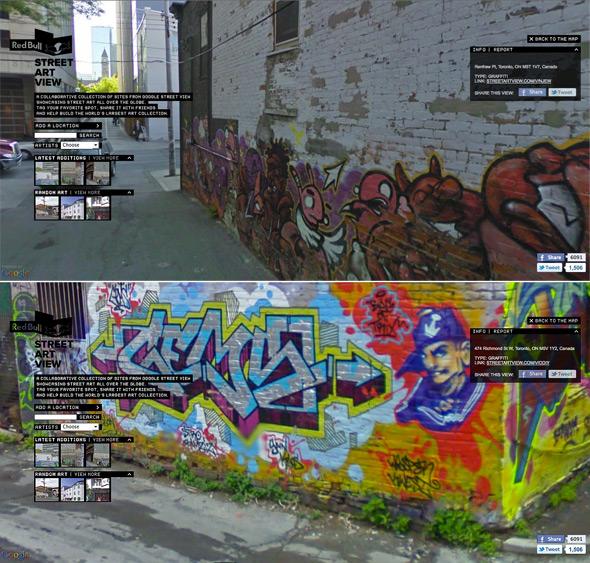 Toronto Graffiti Stret View