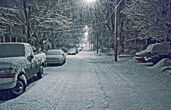 Snowy Toronto Night