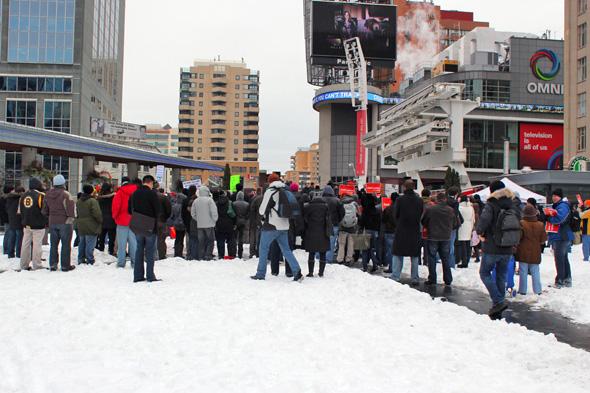 Toronto UBB Protest Yonge Dundas