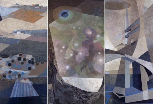 Details of York Wilson's murals
