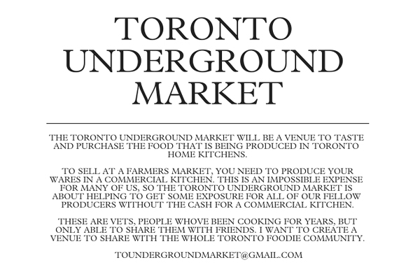Toronto Underground Food Market