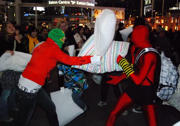 pillow fight toronto