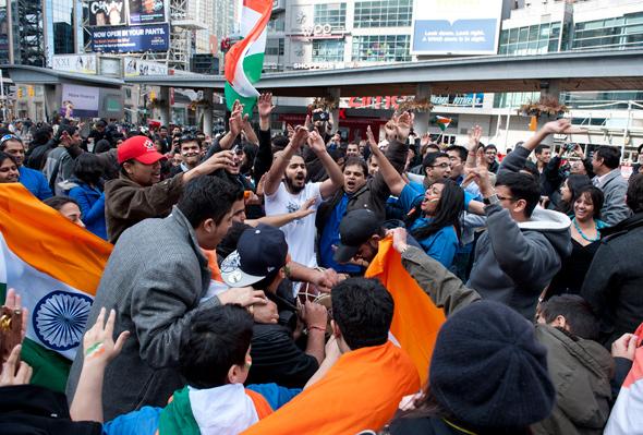India World Cup celebration