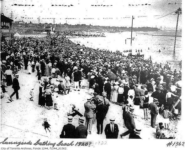 Toronto, history, Sunnyside Amusement Park, Sunnyside Pavilion, Sunnyside Beach