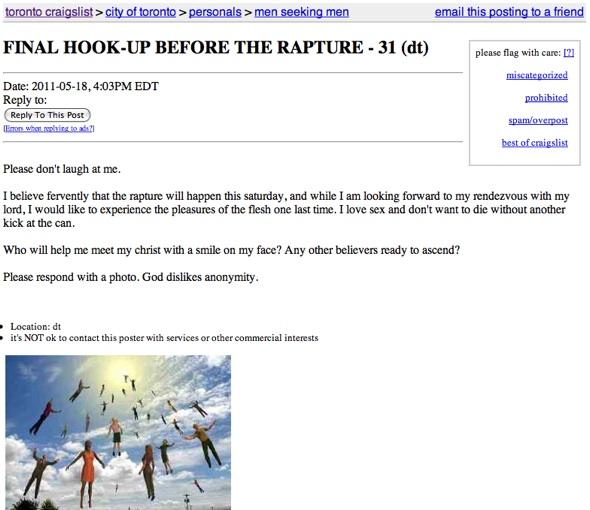 Rapture Hook up