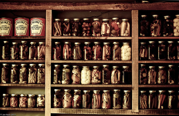 pickled, jars, preserved