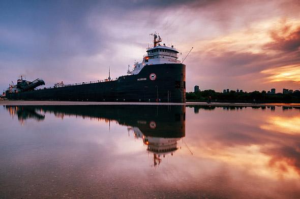 water, portlands, reflection