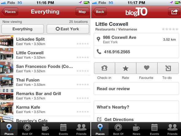 Toronto iPhone app
