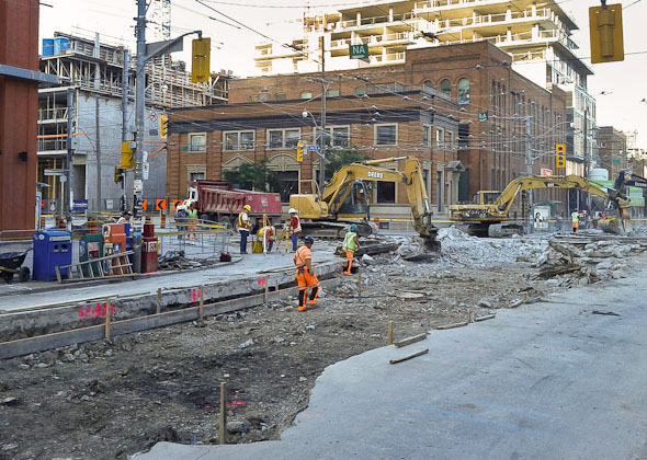 King and Bathurst TTC Construction