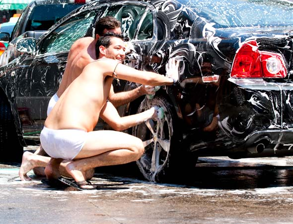 Naked car wash
