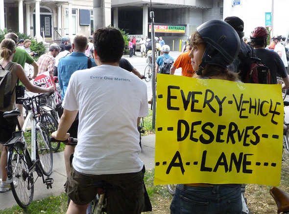 Jarvis Bike Lane Protest