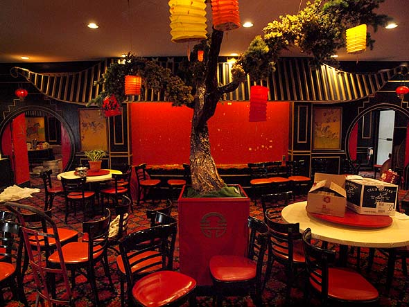 A view of China House's dining room, empty after 53 years