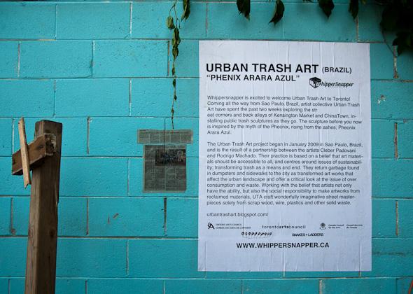 Urban Trash Art Toronto