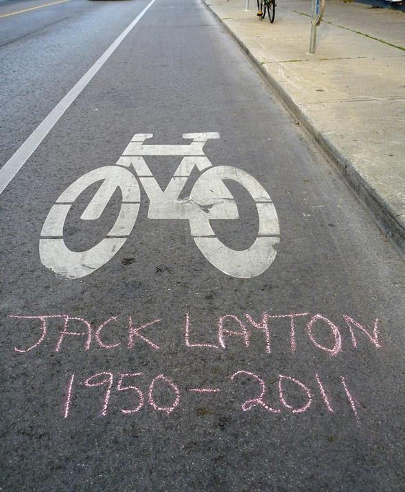 Jack Layton Tribute Toronto