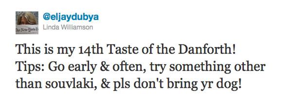 Taste of Danforth Twitter