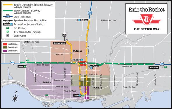 Nuit Blanche TTC Map