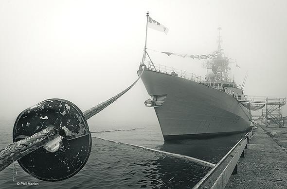 fog, boat, lake