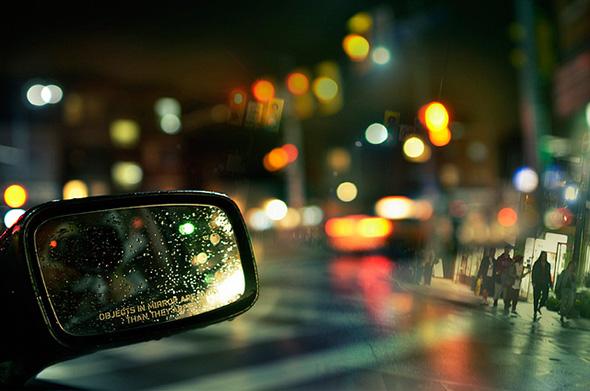 rain, mirror, intersection