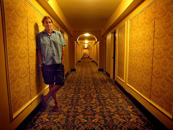 Christopher Heard in a hallway of the Royal York Hotel