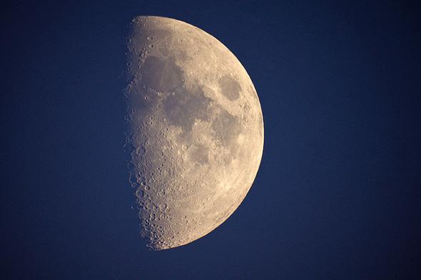october, moon , half