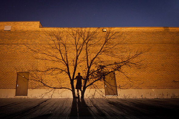 tree, shadow, man