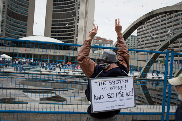 Occupy Toronto Protest Bay Street