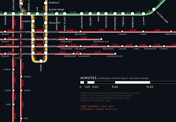 TTC Route Map Time