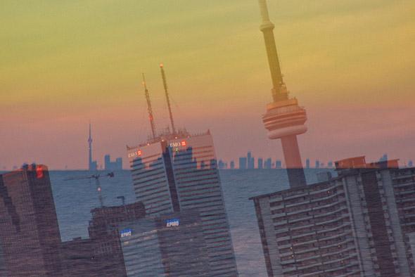 double, exposure, skyline