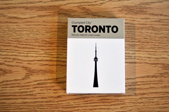 Crumpled City Map Toronto