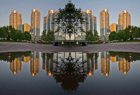 cityplace, reflection, photo
