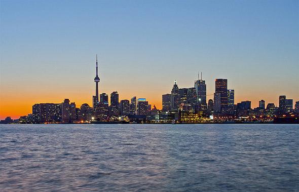 toronto, skyline, docks