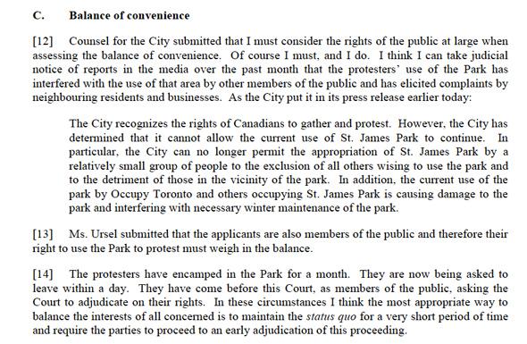 Occupy Toronto injunction