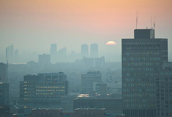 sunset, toronto, west
