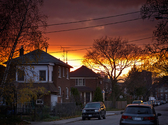orange, sky, sunset