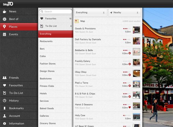 blogTO ipad app