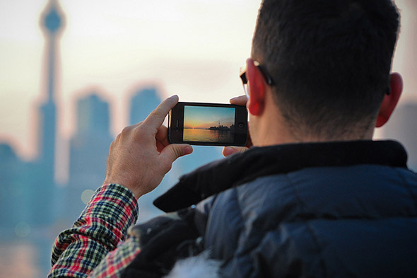 phone, photo, skyline