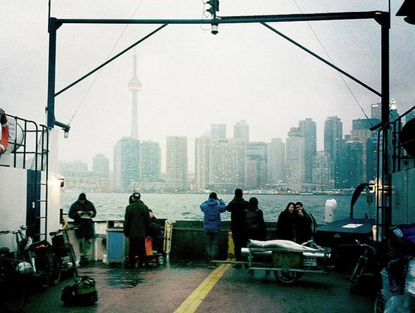 toronto, ferry, skyline