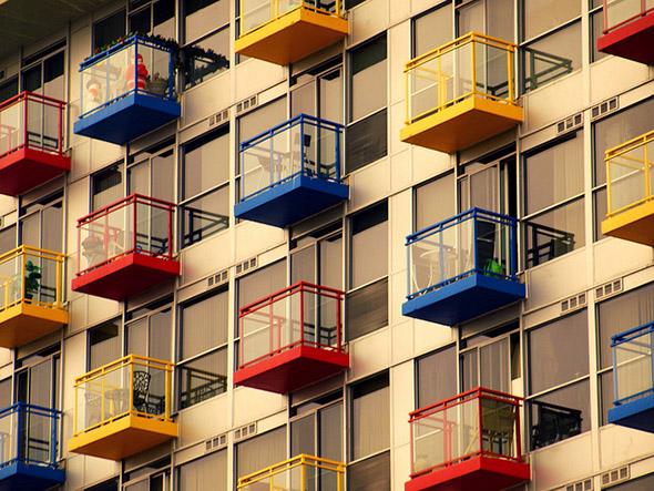 condo, view, balcony